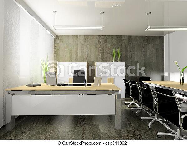modern interior of office - csp5418621