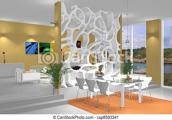 modern interior - csp8593341
