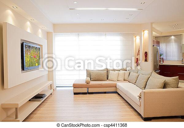 Modern Interior - csp4411368
