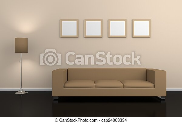 modern, interior. - csp24003334