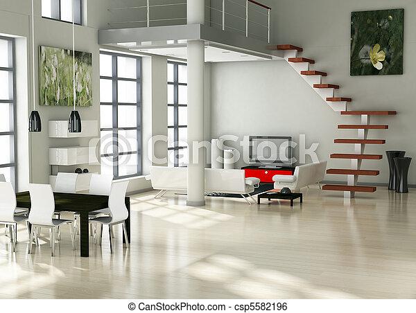 modern interior - csp5582196