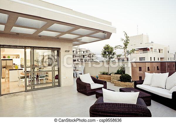 Modern Interior - csp9558636