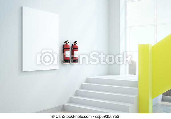 Modern interior with blank ad billboard mock up d rendering