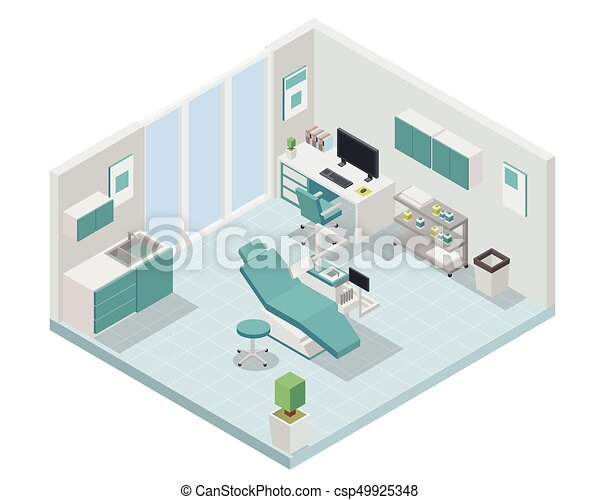 modern isometric dental clinic interior design modern creative