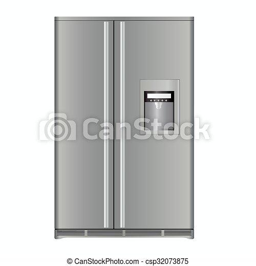 Modern, kühlschrank. Kühlschrank, weißes, modern,... Vektoren ...