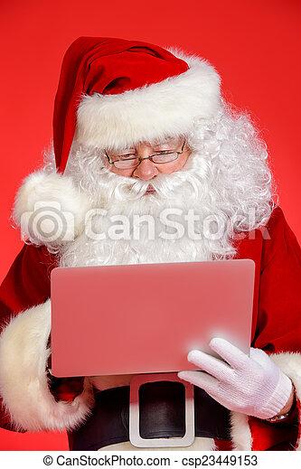 modern, karácsony - csp23449153