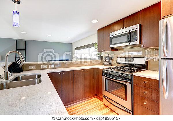 Modern kitchen area - csp19365157