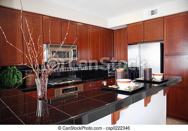 Moderne Küche - csp0222346