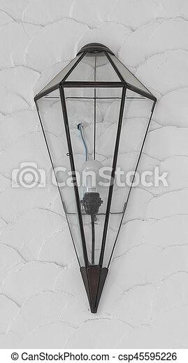 modern lamp on wall - csp45595226