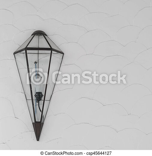 modern lamp on wall - csp45644127