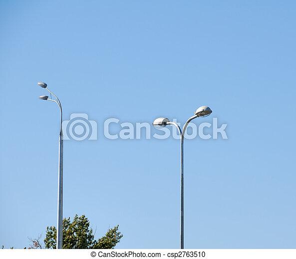 Modern lantern of street illumination - csp2763510