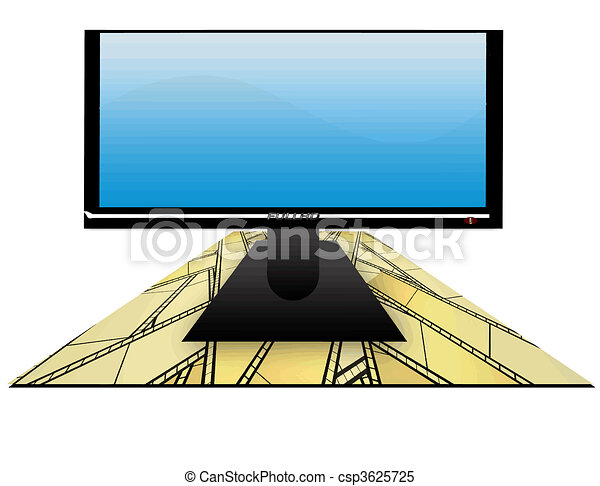 Modern lcd tv film background illustration of lcd clipart modern lcd tv film background vector voltagebd Image collections