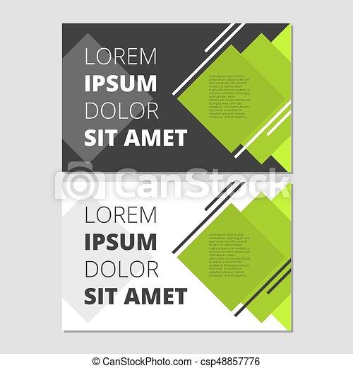 modern leaflet design csp48857776