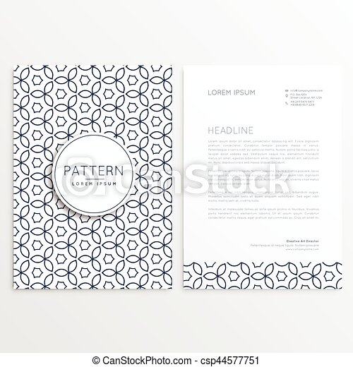 modern letterhead design template with abstract pattern csp44577751
