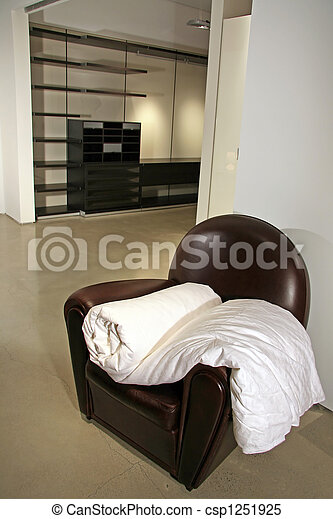 Modern Lifestyle - Interior of a Bedroom - csp1251925