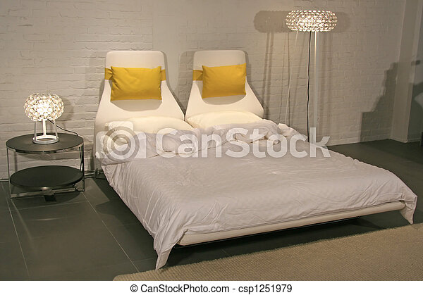 Modern Lifestyle - Interior of a Bedroom - csp1251979