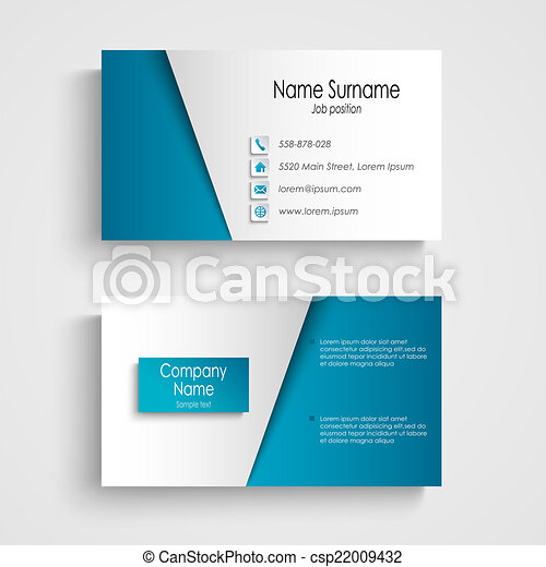 Modern light blue business card template vector eps 10 modern light blue business card template csp22009432 accmission Gallery