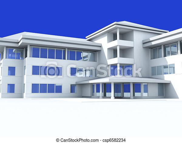 Modern light building - csp6582234
