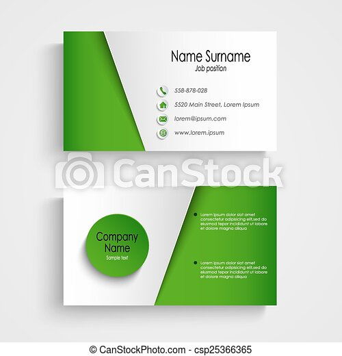 Modern light green business card template vector eps 10 modern light green business card template csp25366365 fbccfo Image collections