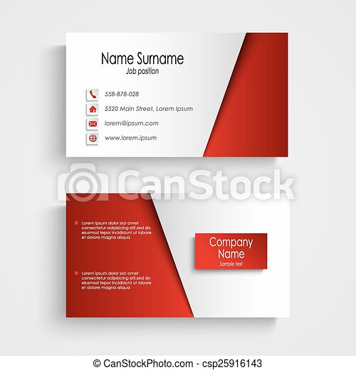 Modern light red business card template vector eps 10 eps vector modern light red business card template csp25916143 colourmoves