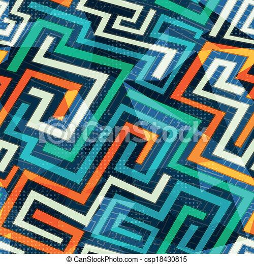modern lines seamless pattern - csp18430815