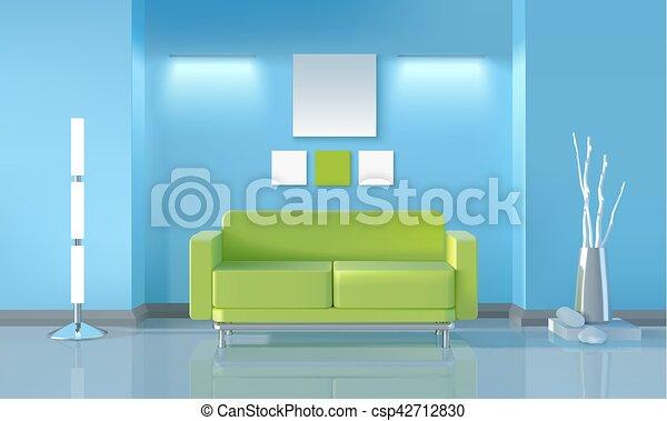 Modern Living Room Design   Csp42712830