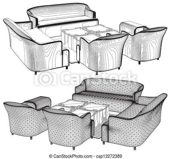 Modern Living Room Furniture Vector Vector Search Clip