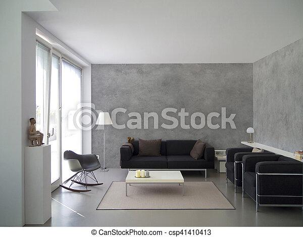 modern living room interior - csp41410413