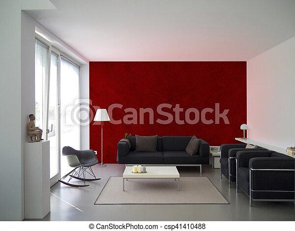 modern living room interior - csp41410488