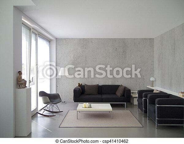 modern living room interior - csp41410462