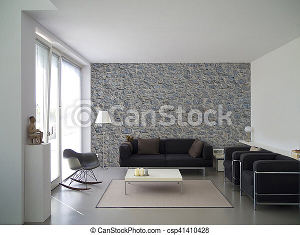 modern living room interior - csp41410428