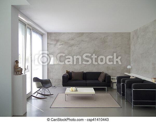 modern living room interior - csp41410443