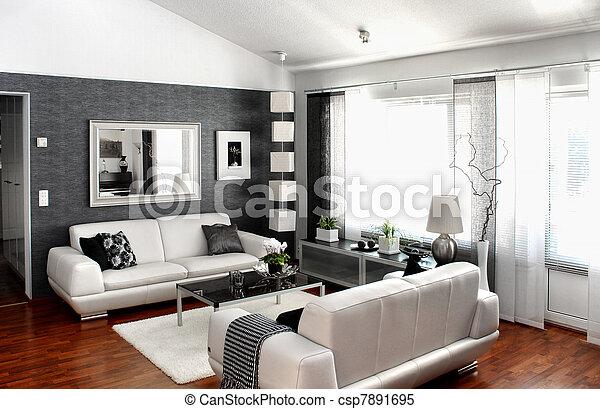 Modern living room - csp7891695