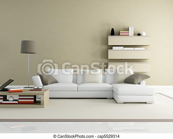 modern living room - csp5529314