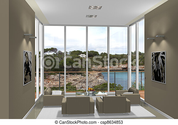 modern living room - csp8634853
