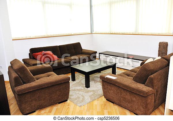 modern livingroom indoor - csp5236506