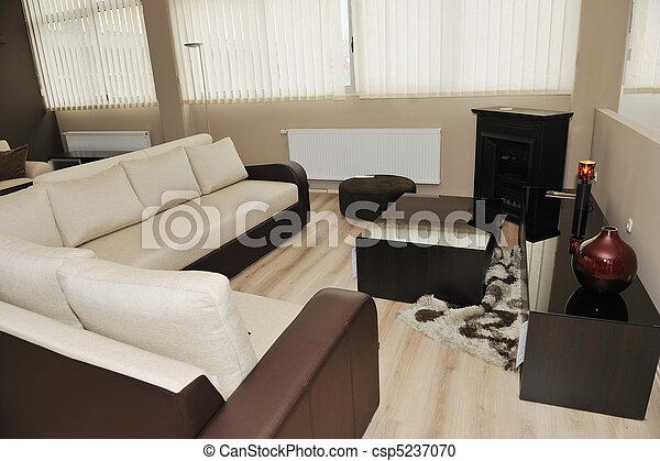 modern livingroom indoor - csp5237070