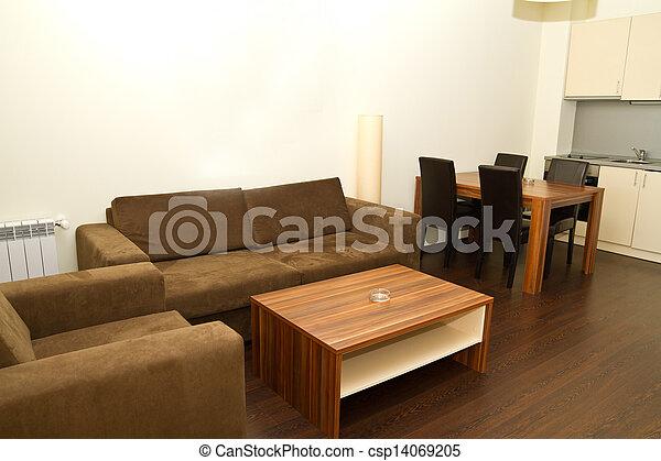 Modern livingroom - csp14069205