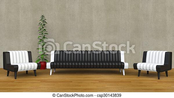 Modern Lounge Room 3 - csp30143839