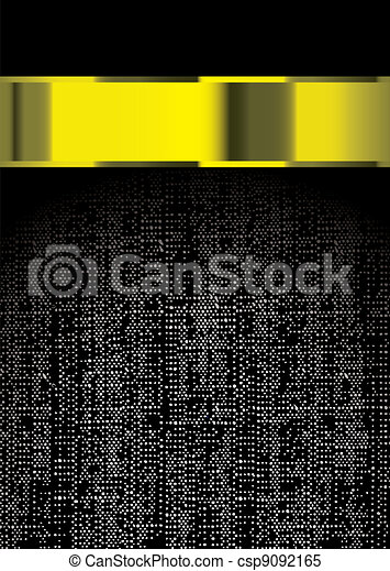 Modern material gold banner - csp9092165