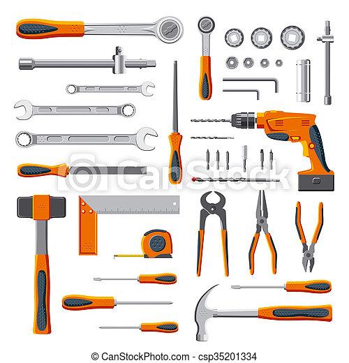 Modern mechanic tools set - csp35201334