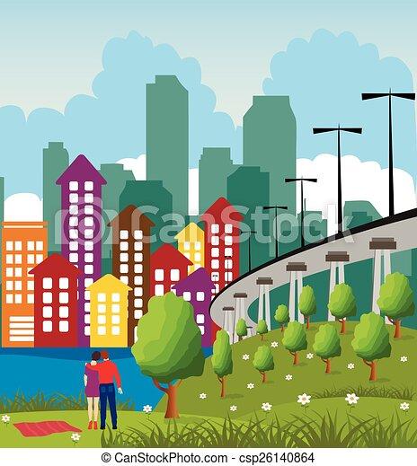 Modern metropolis city - csp26140864