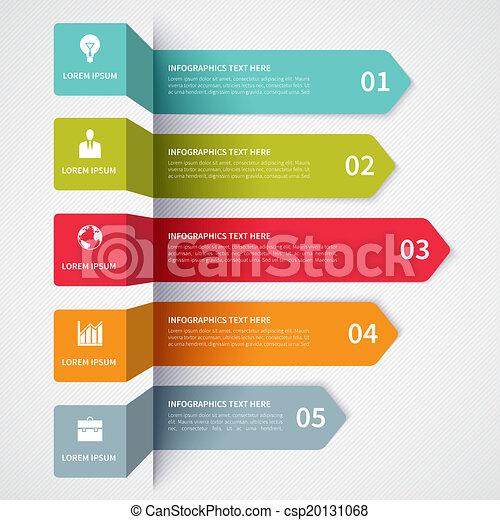 Modern minimalistic infographics banner - csp20131068
