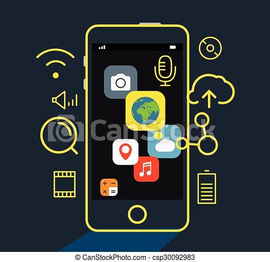 Modern mobile applications concept - csp30092983