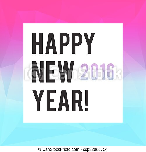 modern new year card or party design csp32088754