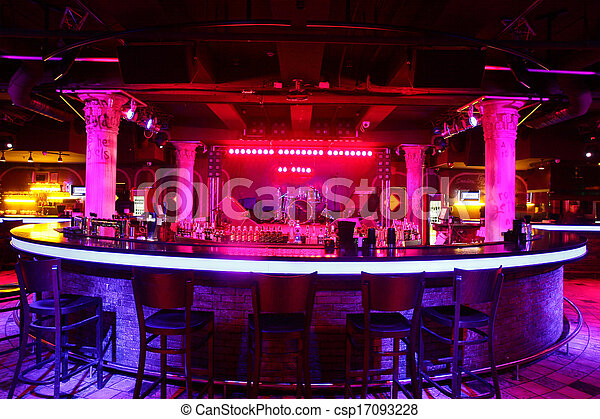 modern night club in european style - csp17093228