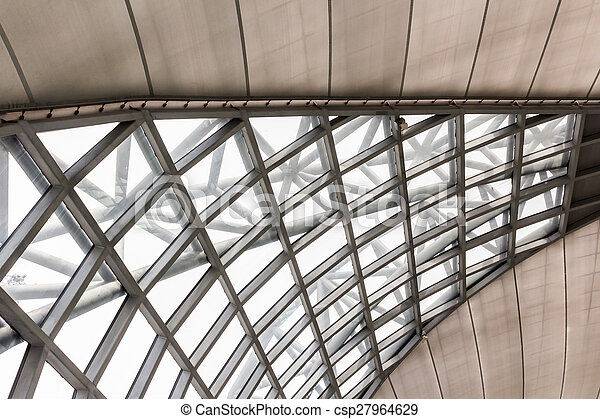 Modern of metal roof structure. - csp27964629