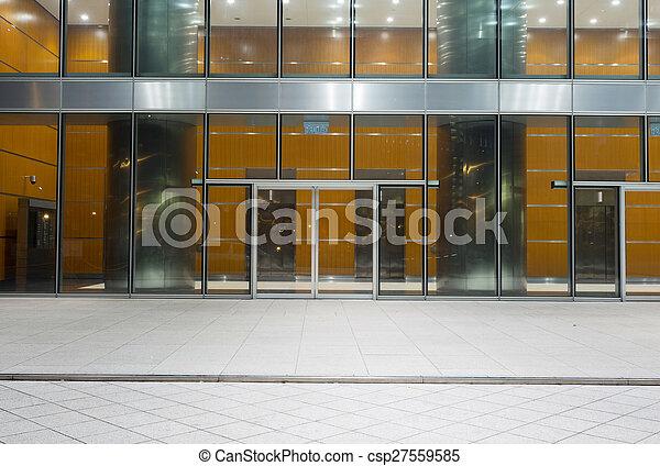 modern office exterior. Modern Office Building Entrance Exterior - Csp27559585 P