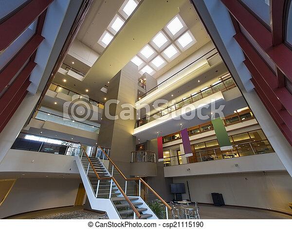 Modern office building lobby - csp21115190