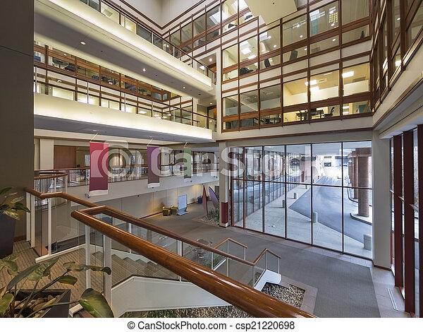 Modern office building lobby - csp21220698
